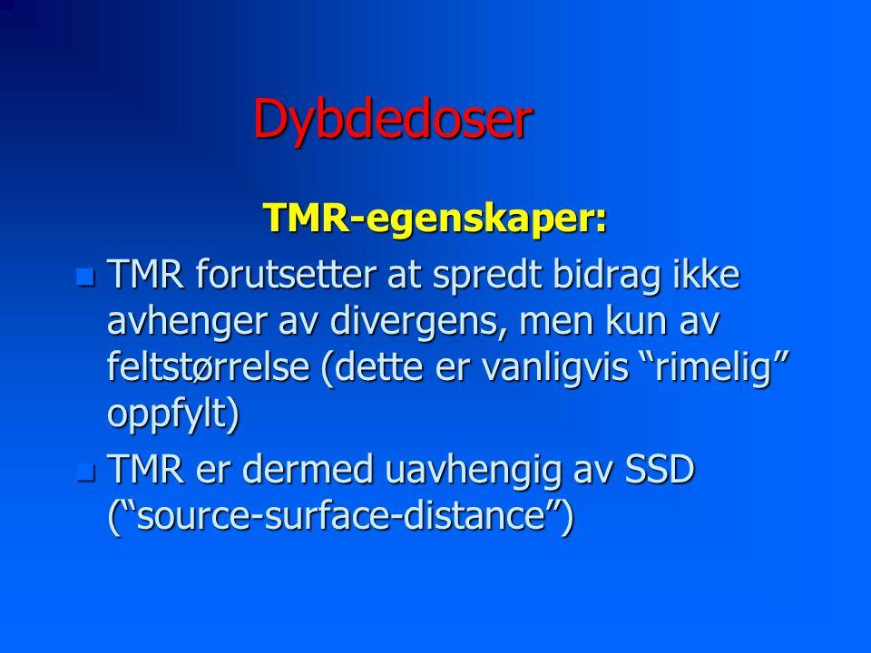 Dybdedoser TMR-egenskaper: