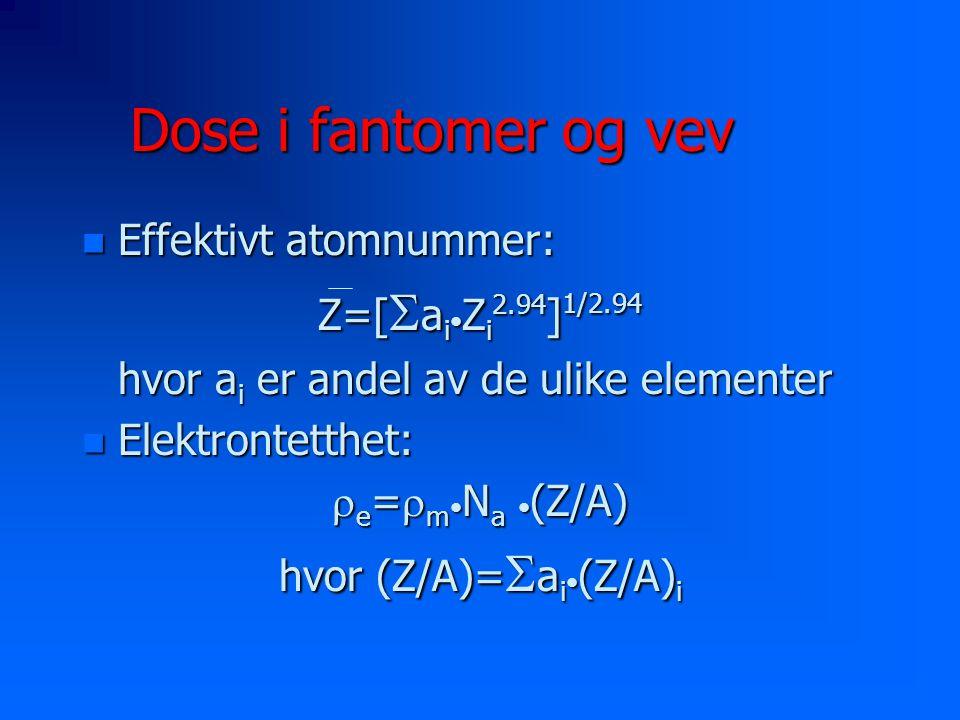 hvor (Z/A)=Sai•(Z/A)i