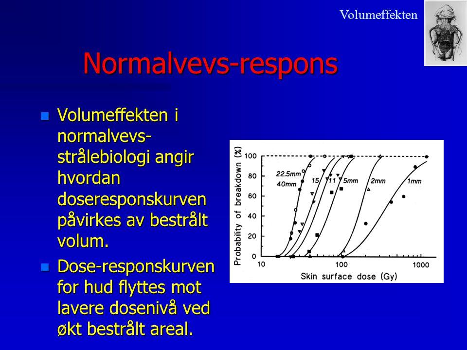 Volumeffekten Normalvevs-respons. Volumeffekten i normalvevs-strålebiologi angir hvordan doseresponskurven påvirkes av bestrålt volum.