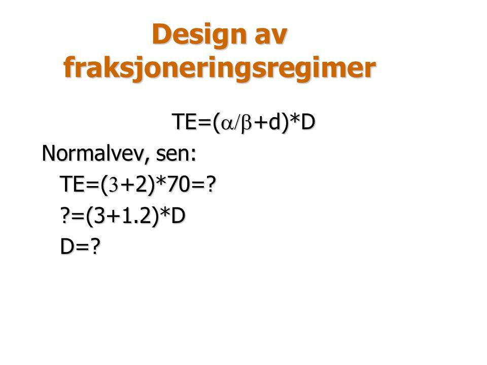 Design av fraksjoneringsregimer