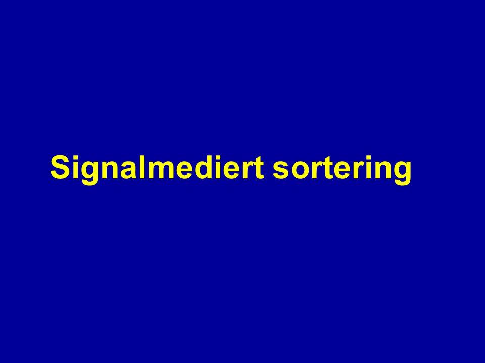 Signalmediert sortering