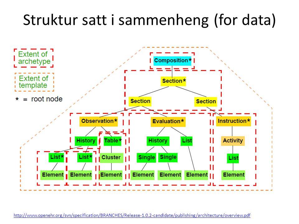 Struktur satt i sammenheng (for data)