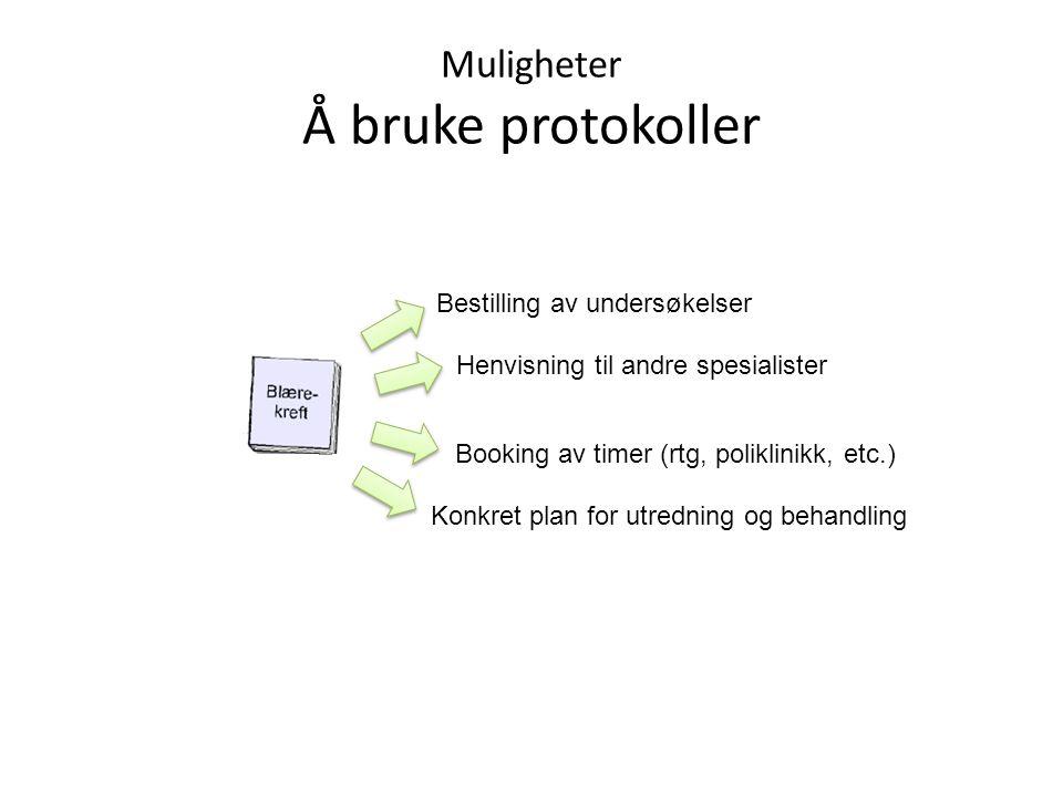 Muligheter Å bruke protokoller