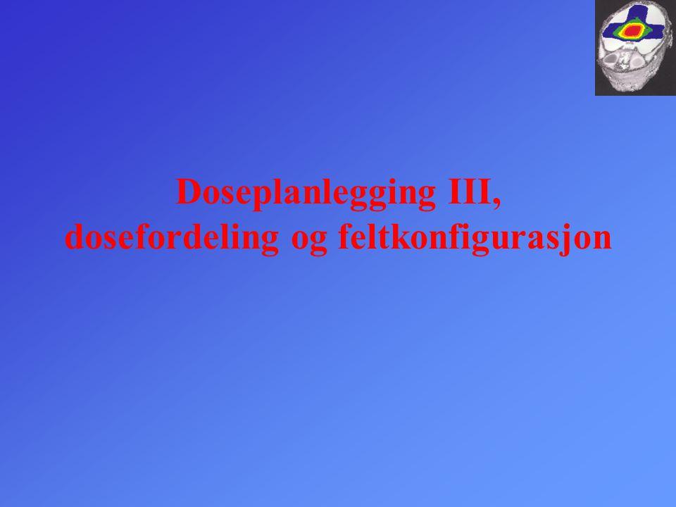 Doseplanlegging III, dosefordeling og feltkonfigurasjon