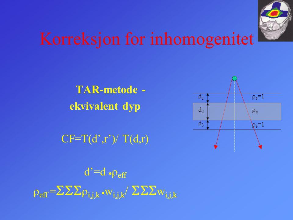 Korreksjon for inhomogenitet