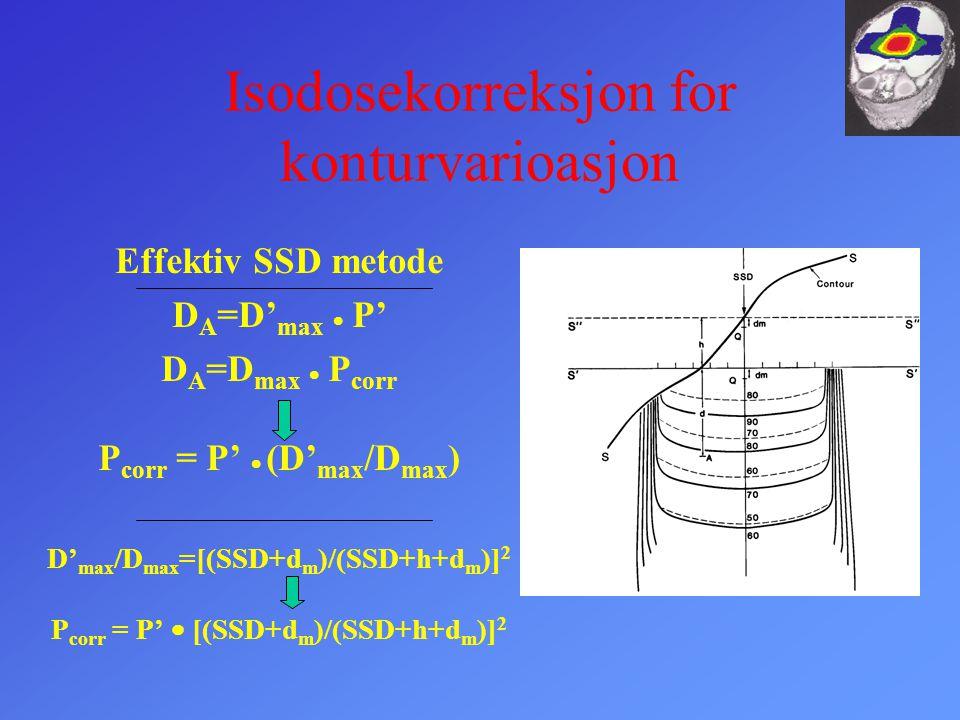Isodosekorreksjon for konturvarioasjon