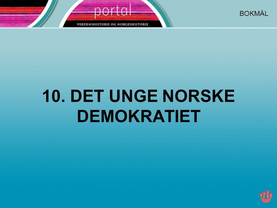 10. DET UNGE NORSKE DEMOKRATIET