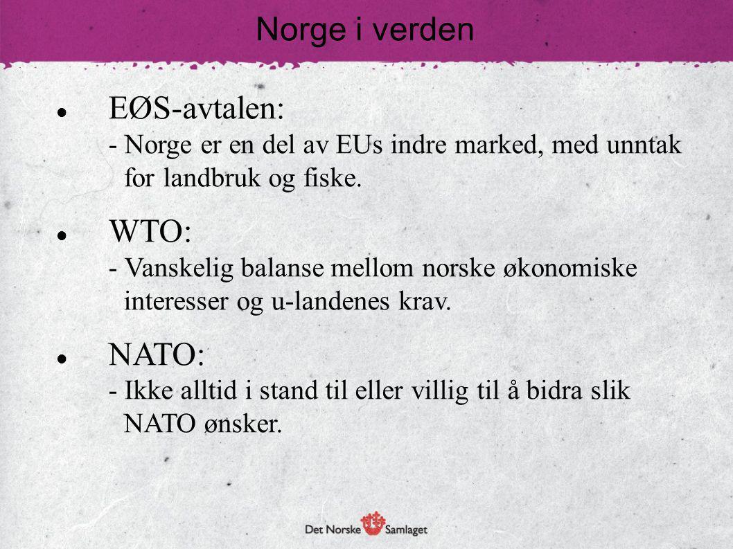 Norge i verden EØS-avtalen: WTO: NATO: