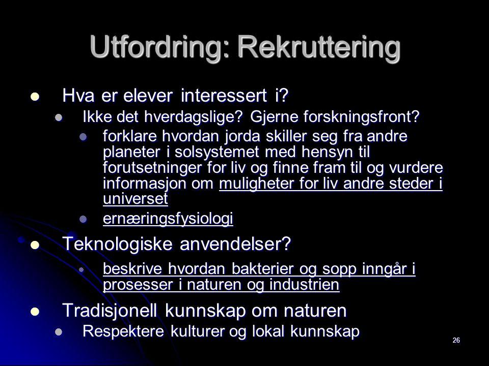 Utfordring: Rekruttering