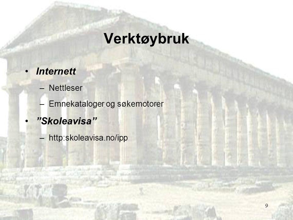 Verktøybruk Internett Skoleavisa Nettleser