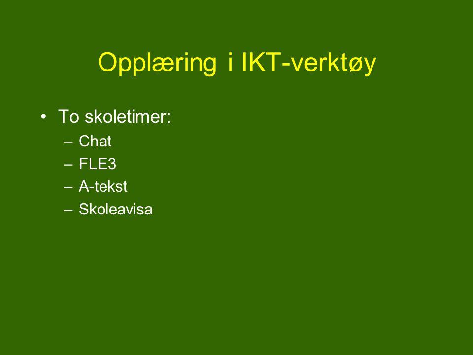 Opplæring i IKT-verktøy