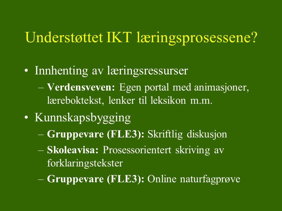 Understøttet IKT læringsprosessene