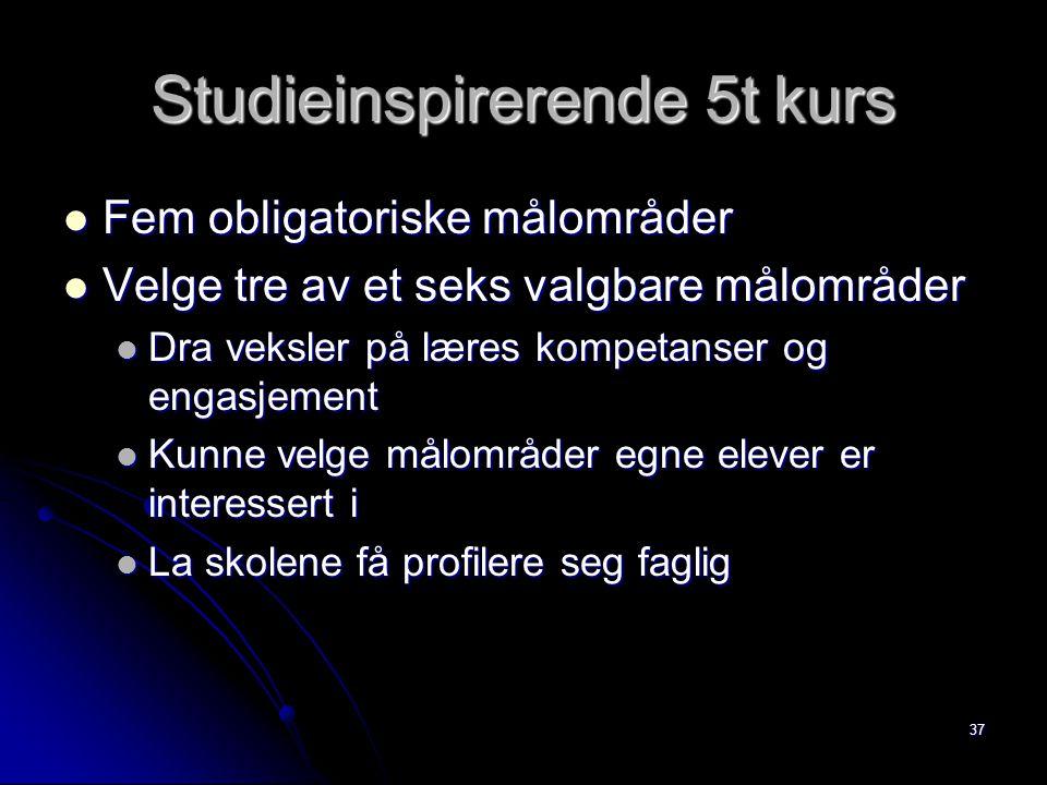 Studieinspirerende 5t kurs