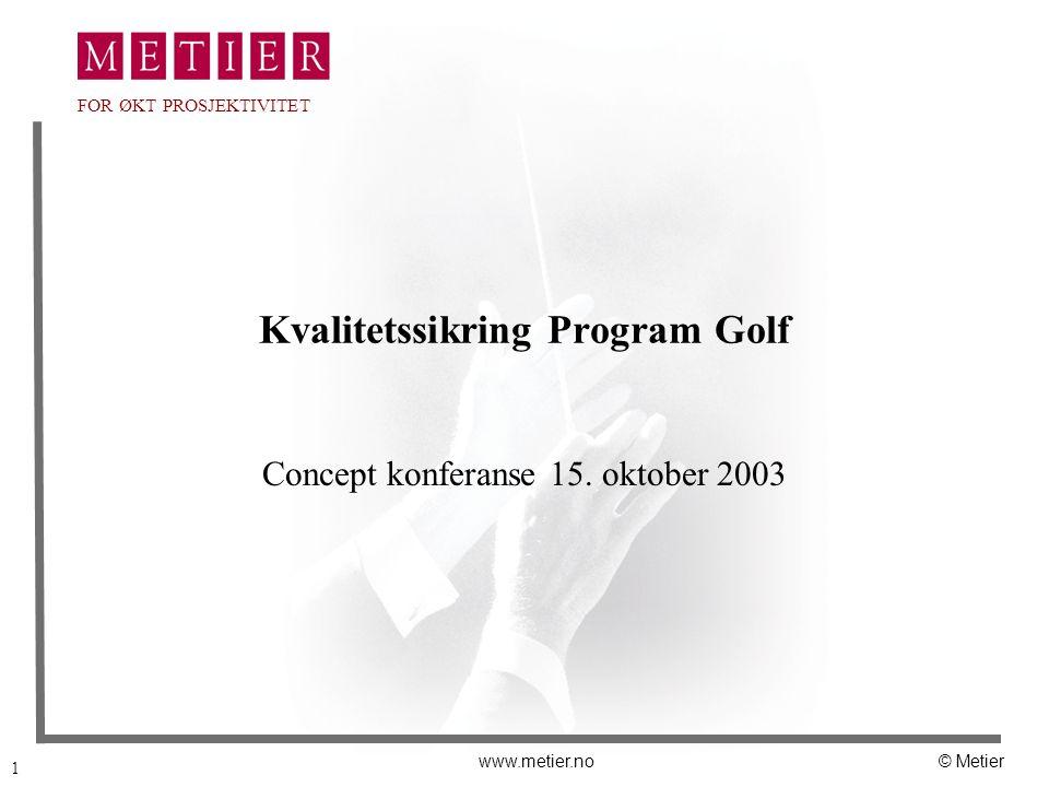 Kvalitetssikring Program Golf