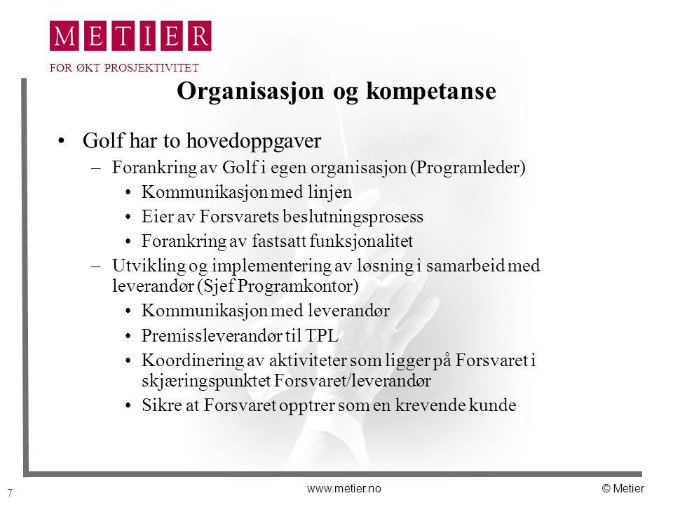 Organisasjon og kompetanse