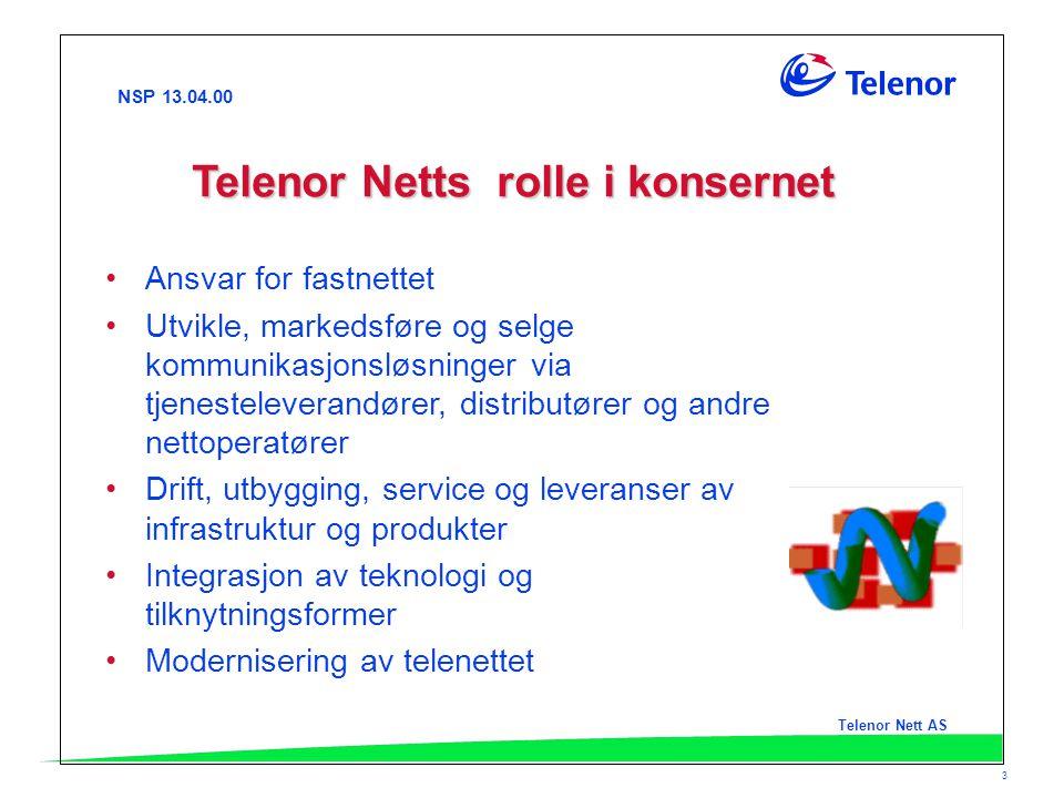 Telenor Netts rolle i konsernet