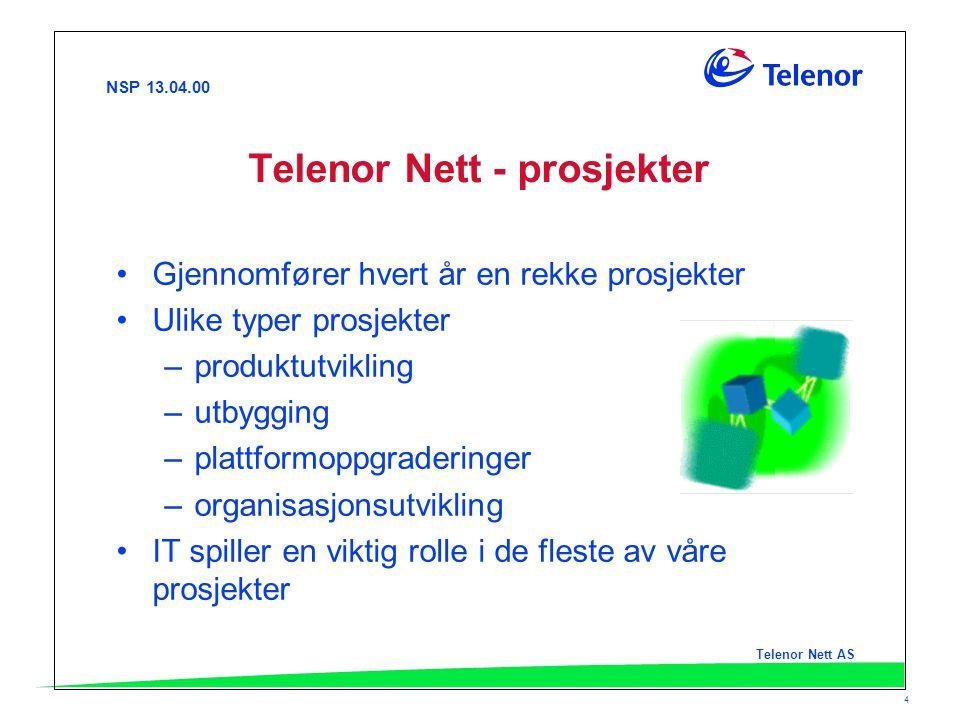 Telenor Nett - prosjekter