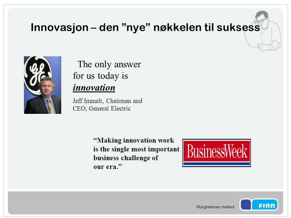Innovasjon – den nye nøkkelen til suksess
