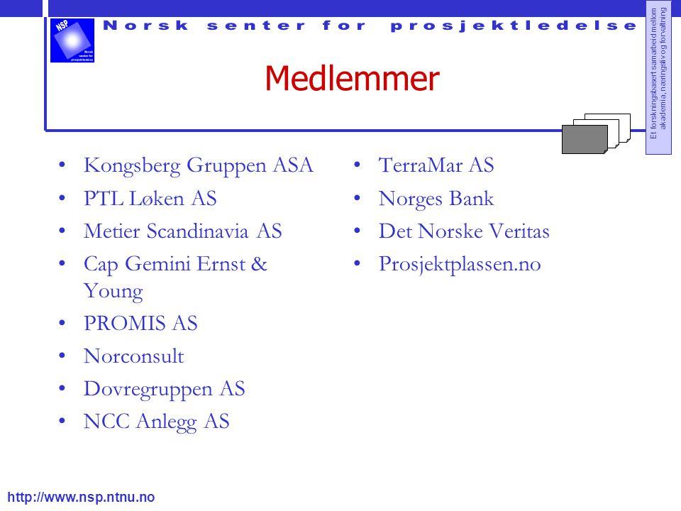 Medlemmer Kongsberg Gruppen ASA PTL Løken AS Metier Scandinavia AS