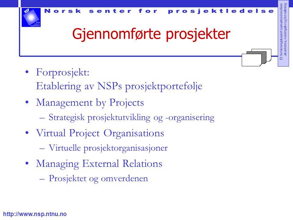 Gjennomførte prosjekter