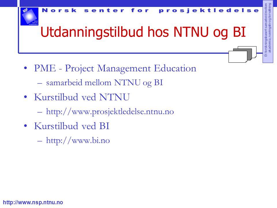 Utdanningstilbud hos NTNU og BI