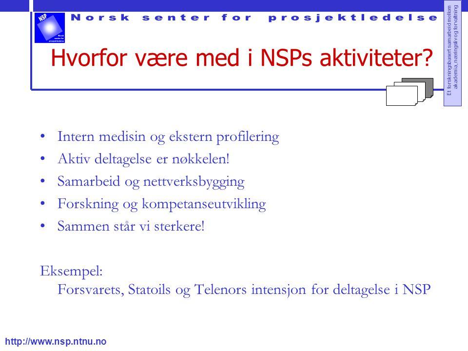 Hvorfor være med i NSPs aktiviteter