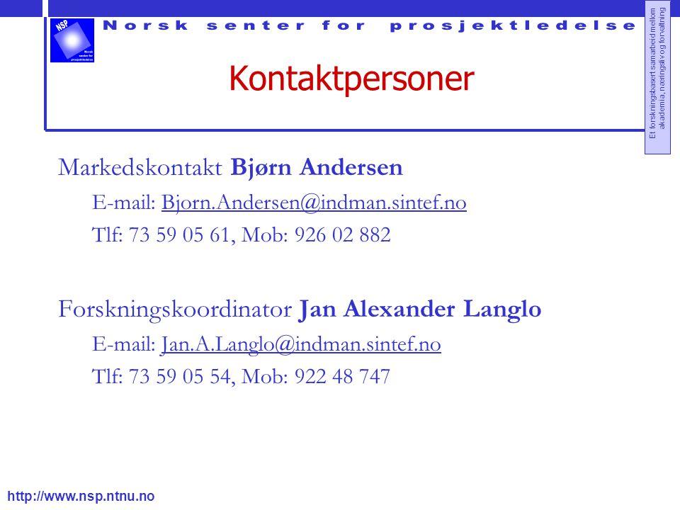 Kontaktpersoner Markedskontakt Bjørn Andersen