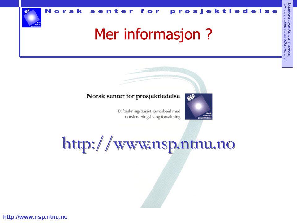 Mer informasjon http://www.nsp.ntnu.no