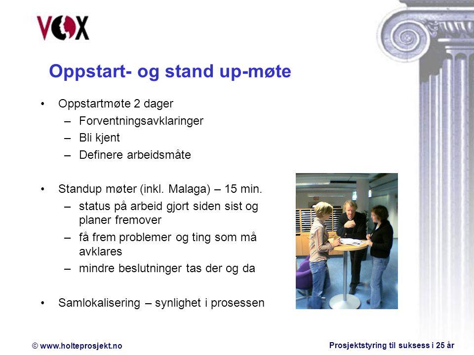 Oppstart- og stand up-møte