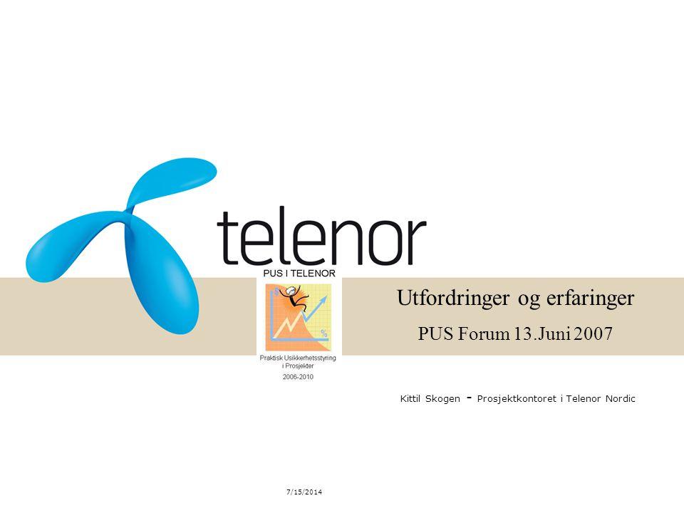 Kittil Skogen - Prosjektkontoret i Telenor Nordic