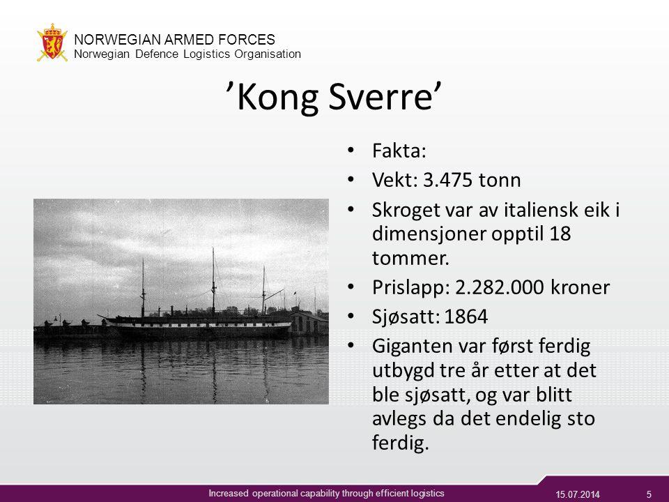 'Kong Sverre' Fakta: Vekt: 3.475 tonn