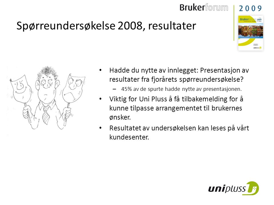 Spørreundersøkelse 2008, resultater
