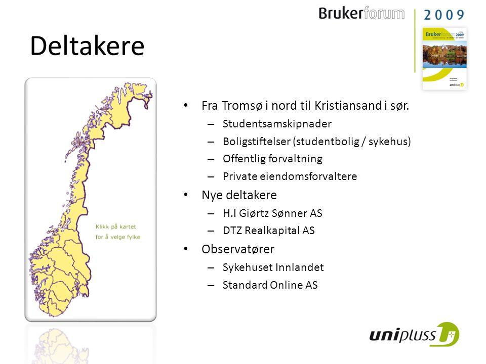 Deltakere Fra Tromsø i nord til Kristiansand i sør. Nye deltakere