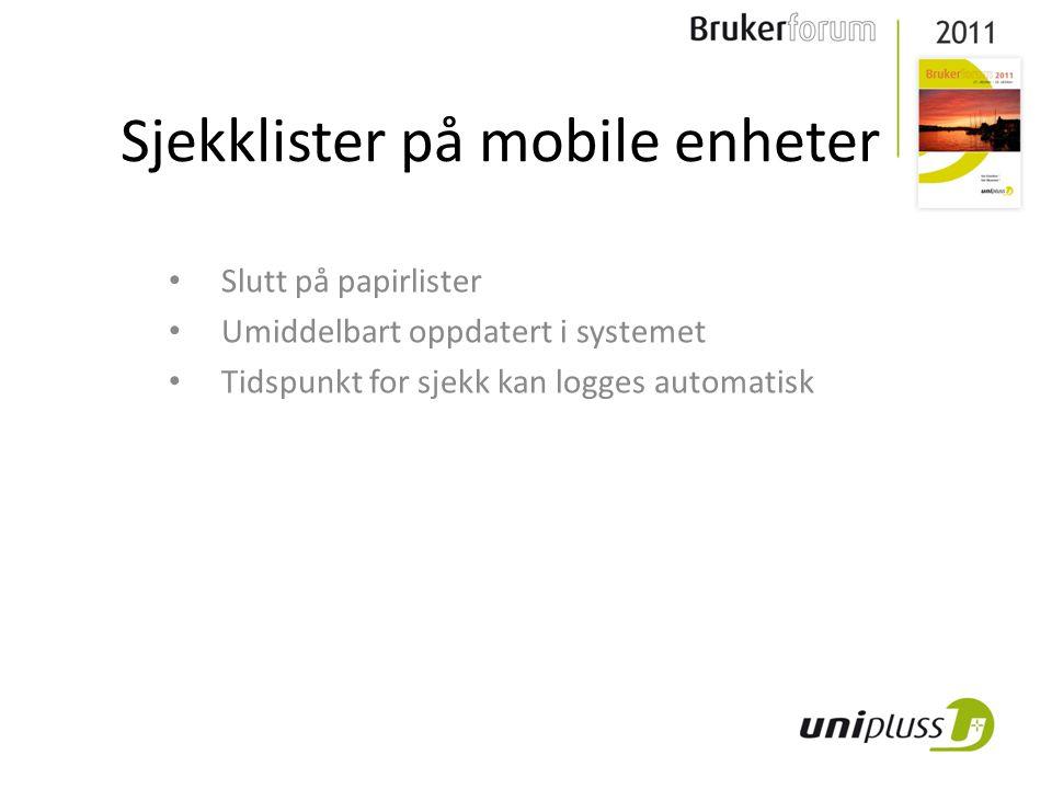 Sjekklister på mobile enheter