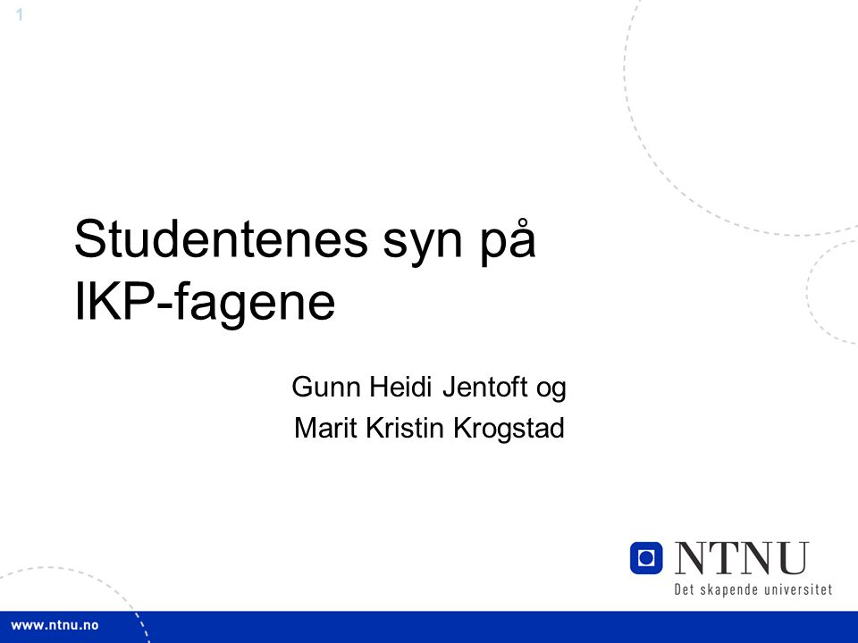 Studentenes syn på IKP-fagene