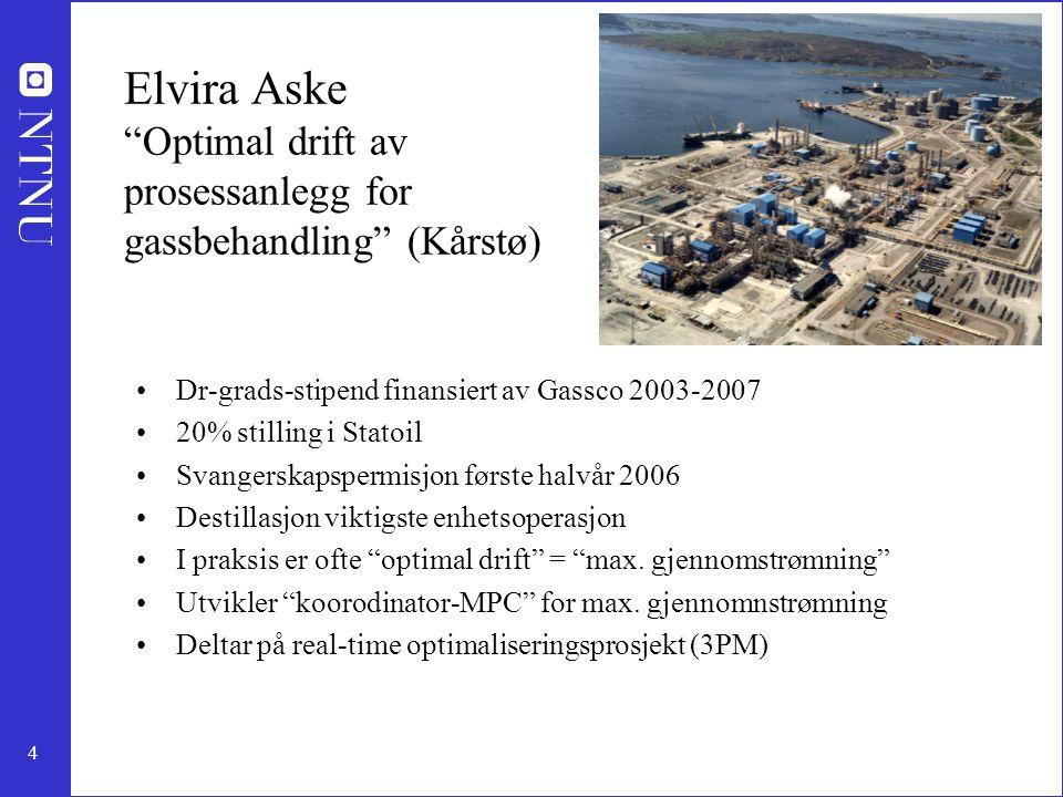 Elvira Aske Optimal drift av prosessanlegg for gassbehandling (Kårstø)