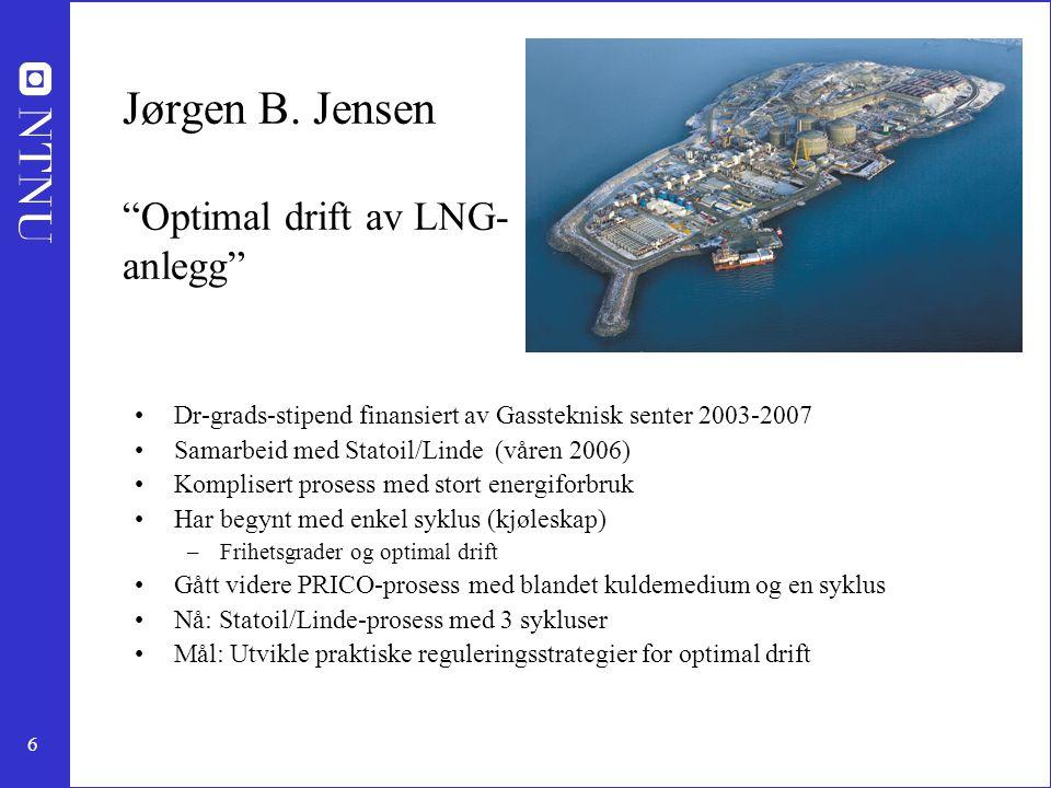 Jørgen B. Jensen Optimal drift av LNG-anlegg