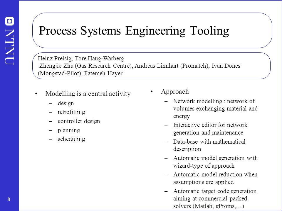 Process Systems Engineering Tooling