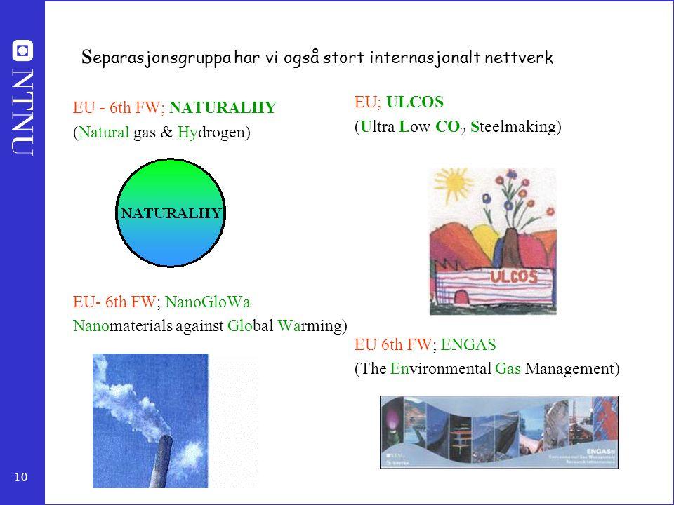separasjonsgruppa har vi også stort internasjonalt nettverk