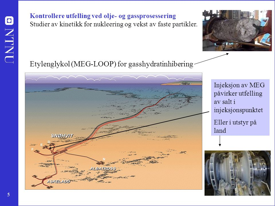 Etylenglykol (MEG-LOOP) for gasshydratinhibering
