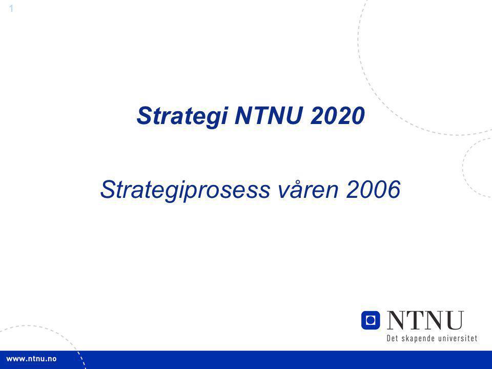 Strategi NTNU 2020 Strategiprosess våren 2006