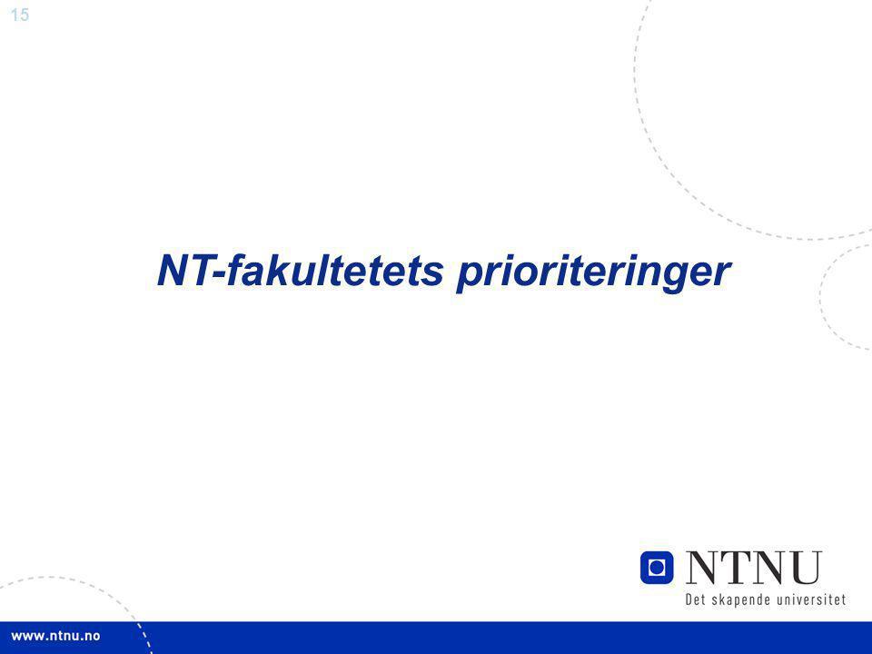 NT-fakultetets prioriteringer
