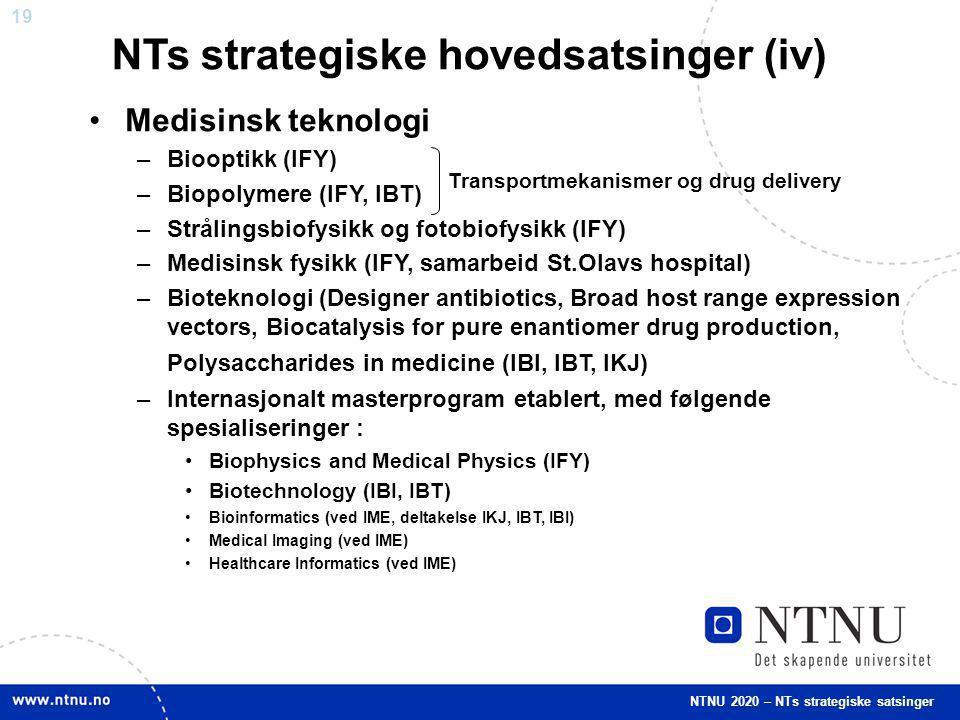 NTs strategiske hovedsatsinger (iv)