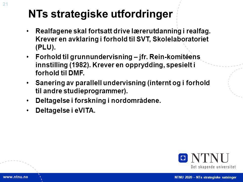 NTs strategiske utfordringer