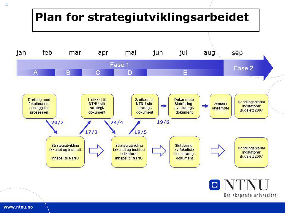 Plan for strategiutviklingsarbeidet