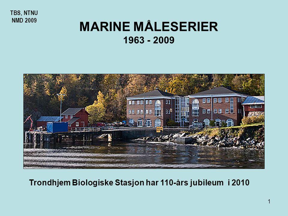 TBS, NTNU NMD 2009. MARINE MÅLESERIER. 1963 - 2009.