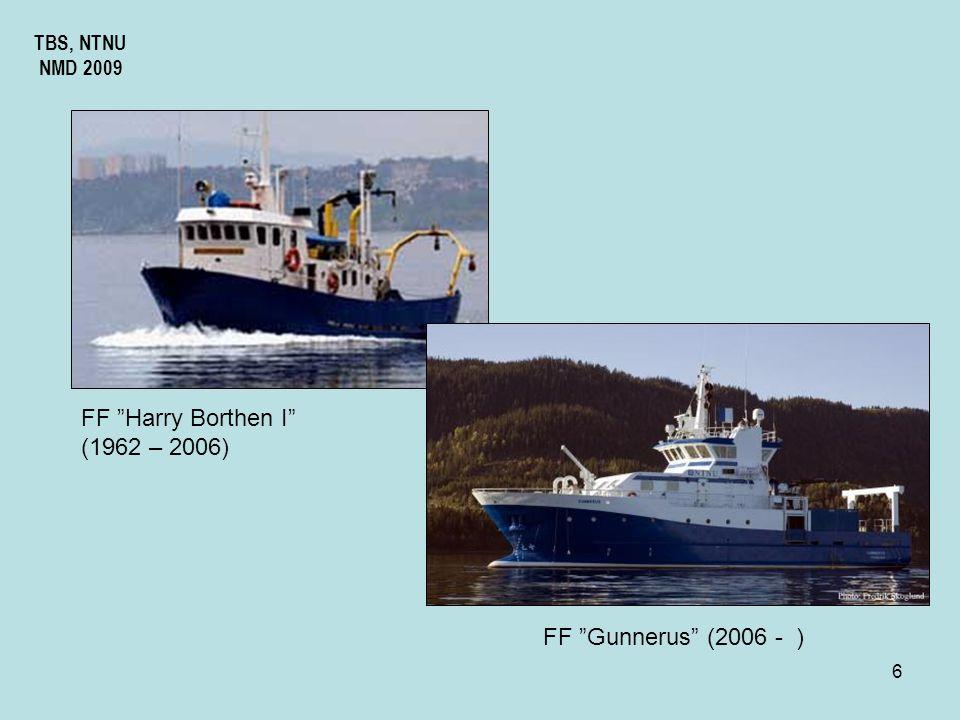 FF Harry Borthen I (1962 – 2006) FF Gunnerus (2006 - ) TBS, NTNU