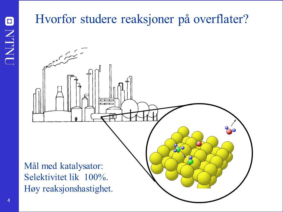 Hvorfor studere reaksjoner på overflater