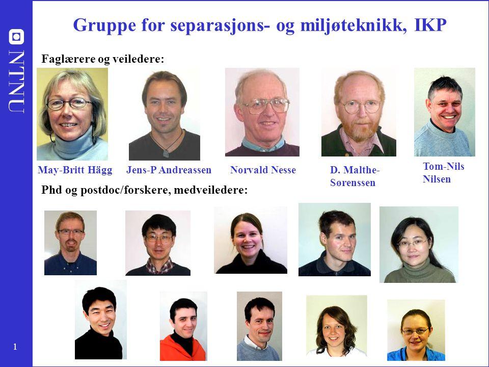 Gruppe for separasjons- og miljøteknikk, IKP