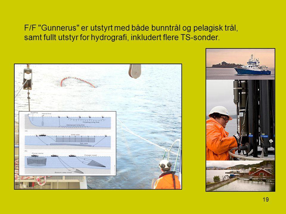 F/F Gunnerus er utstyrt med både bunntrål og pelagisk trål,